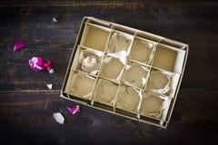 Scatola della palla di Natale Fotografie Stock