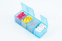 Scatola della pillola Fotografia Stock