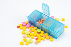 Scatola della pillola Fotografia Stock Libera da Diritti