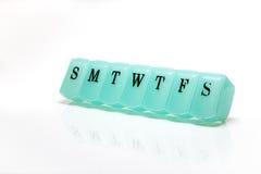 Scatola della pillola Fotografie Stock Libere da Diritti