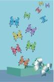 Scatola delle farfalle Immagine Stock