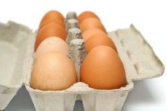 Scatola delle uova Fotografia Stock Libera da Diritti