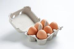Scatola delle uova riempita immagine stock libera da diritti