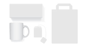 Scatola di bianca il tè Immagine Stock Libera da Diritti