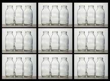 Scatola di bottiglie per il latte Immagini Stock Libere da Diritti
