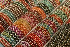 Scatola di braccialetti ndian Fotografie Stock