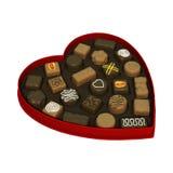 Scatola di Candy di giorno di biglietti di S. Valentino Immagine Stock Libera da Diritti
