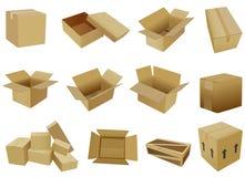 Scatola di cartone Fotografia Stock