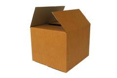 Scatola di cartone in bianco Fotografie Stock