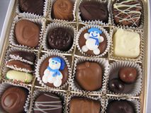 Scatola di cioccolato Fotografia Stock Libera da Diritti