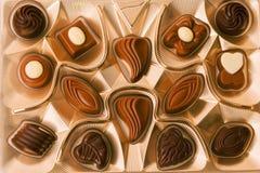Scatola di cioccolato allsorts Immagini Stock Libere da Diritti