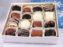 Scatola di cioccolato assorted Fotografie Stock Libere da Diritti