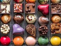 Scatola di cioccolato operato Fotografia Stock Libera da Diritti