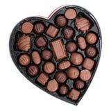 Scatola di cioccolato in una figura del cuore (immagine 8.2mp) fotografia stock