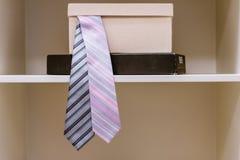 Scatola di cravatte Fotografia Stock Libera da Diritti