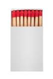 Scatola di fiammiferi Fotografia Stock