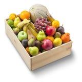 Scatola di frutta fresca Fotografie Stock