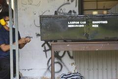 Scatola di fucilazione Fotografie Stock Libere da Diritti