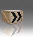 Scatola di legno immagini stock