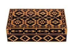 Scatola di legno bulgara d'annata fotografie stock