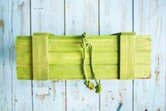 Scatola di legno Colourful fotografia stock