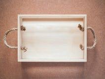 Scatola di legno con le maniglie della corda Immagine Stock