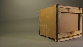 Scatola di legno di consegna, contenitore perfetto per le merci fragili, servizio di logistica video d archivio