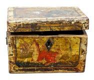 Scatola di legno d'annata Fotografia Stock