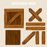 Scatola di legno e bordi Immagine Stock Libera da Diritti