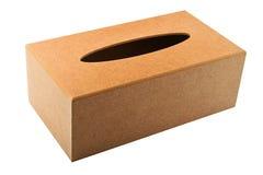 Scatola di legno fatta a mano dell'erogatore della sostituzione dei tessuti isolata su wh Immagini Stock Libere da Diritti