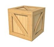 Scatola di legno isolata su fondo bianco illustrazione di stock