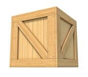 Scatola di legno isolata su fondo bianco illustrazione vettoriale
