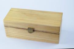 Scatola di legno vicina isolata Immagini Stock Libere da Diritti