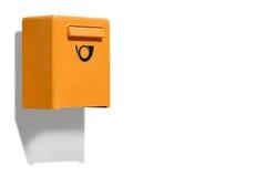 Scatola di lettera arancio Fotografia Stock Libera da Diritti
