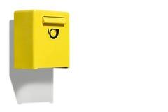 Scatola di lettera gialla Fotografie Stock