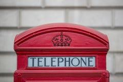 Scatola di Londra Telphone Fotografia Stock Libera da Diritti