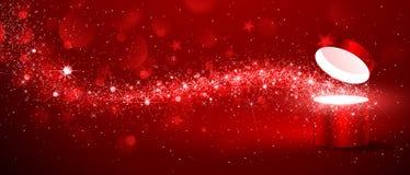 Scatola di magia di Natale Immagini Stock