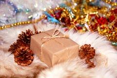 Scatola di Natale Fotografia Stock Libera da Diritti