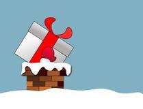 Scatola di Natale in camino Fotografie Stock Libere da Diritti