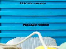 Scatola di pesce Fotografia Stock