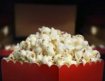 Scatola di popcorn Fotografia Stock