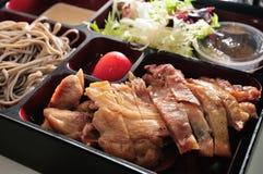Scatola di pranzo del pollo Fotografia Stock