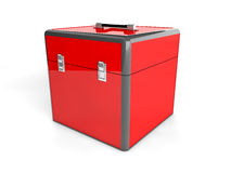 scatola di rosso 3d Immagini Stock