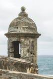 Scatola di sentinella che trascura l'Oceano Atlantico 'al EL Morro' (Castill fotografie stock