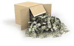 Scatola di soldi Fotografia Stock