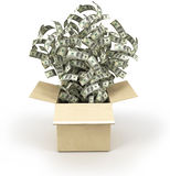Scatola di soldi Immagini Stock Libere da Diritti