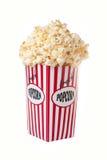 Scatola di straripamento del popcorn fotografie stock
