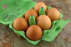 Scatola di uova Fotografia Stock