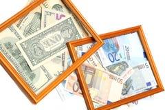 Scatola di valuta fotografie stock