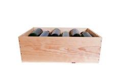 Scatola di vino Fotografia Stock